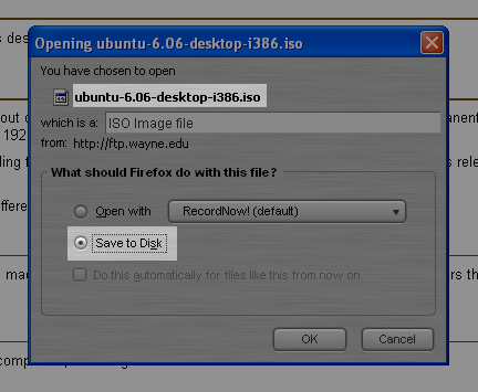 Downloading the Ubuntu live CD
